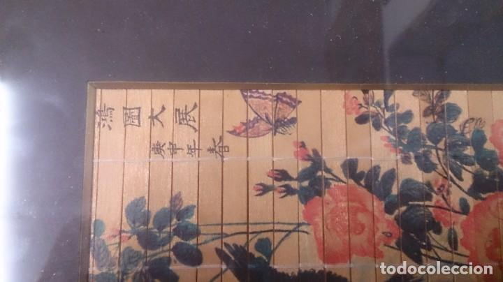 Arte: Acuarela china firmada 23x12. Con marco 35x25 - Foto 3 - 145337858