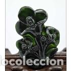 Arte: JADE Amuleto chino Tallado a Mano en Jade, estatua colgante Magnolia - Foto 3 - 145466033