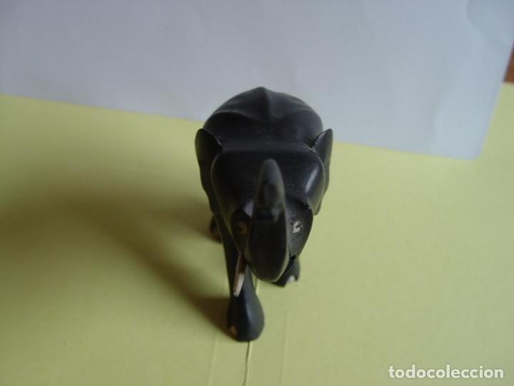 Arte: Elefante tallado en madera (Guinea, 1960's) Vintage ¡Original! - Foto 3 - 145590406