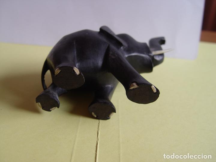 Arte: Elefante tallado en madera (Guinea, 1960's) Vintage ¡Original! - Foto 6 - 145590406