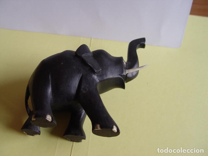 Arte: Elefante tallado en madera (Guinea, 1960's) Vintage ¡Original! - Foto 9 - 145590406