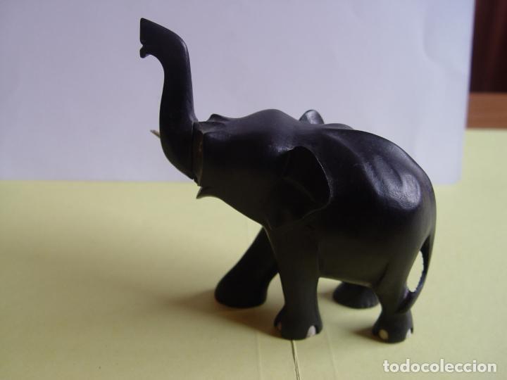 Arte: Elefante tallado en madera (Guinea, 1960's) Vintage ¡Original! - Foto 10 - 145590406