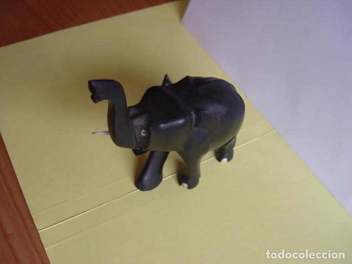 Arte: Elefante tallado en madera (Guinea, 1960's) Vintage ¡Original! - Foto 11 - 145590406