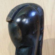 Arte: ESCULTURAS ORIGEN AFRICANO EN NOBLE MADERA TROPICAL. 1 KG.. AÑOS 80. Lote 145592766