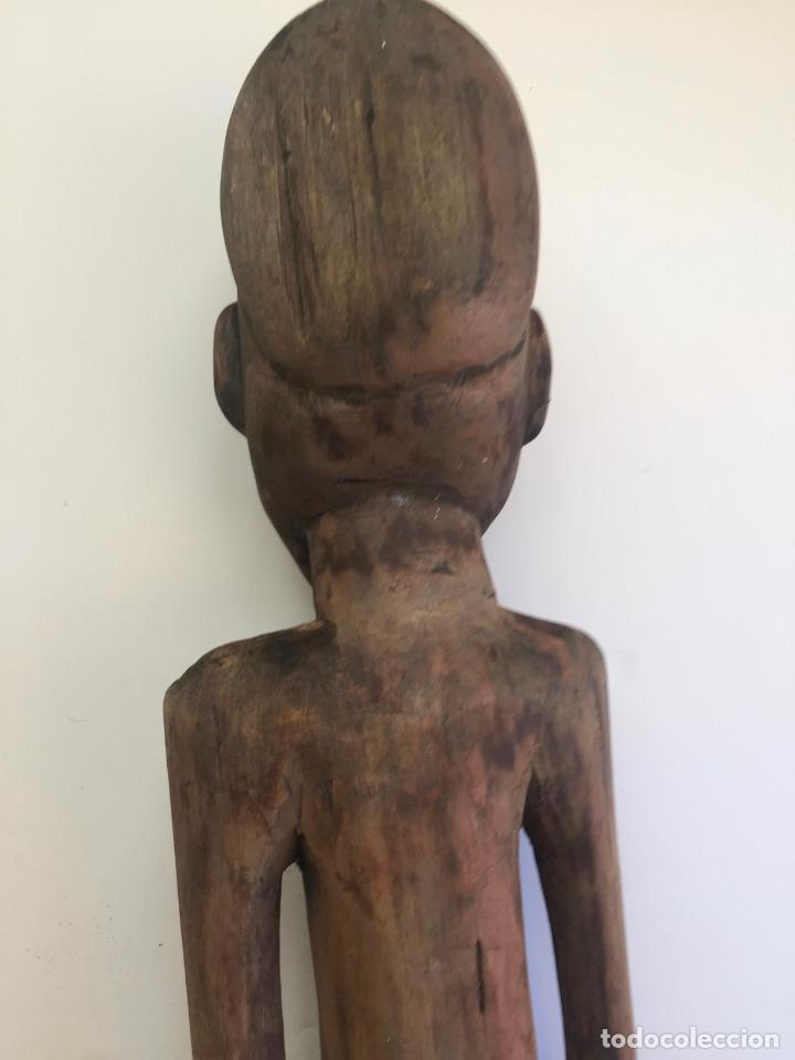 Arte: TALLA AFRICANA EN MADERA . 72 CM. BEMBE - Foto 3 - 145594138