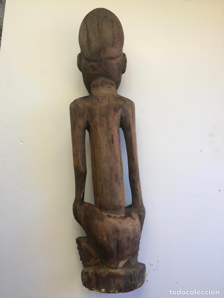 Arte: TALLA AFRICANA EN MADERA . 72 CM. BEMBE - Foto 4 - 145594138