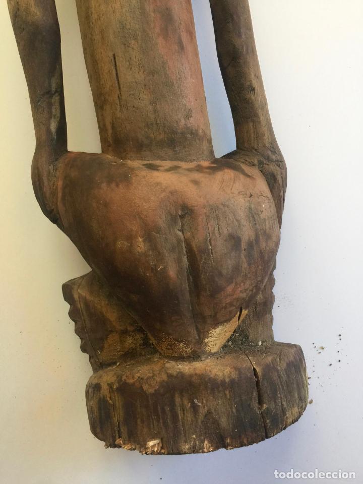 Arte: TALLA AFRICANA EN MADERA . 72 CM. BEMBE - Foto 5 - 145594138