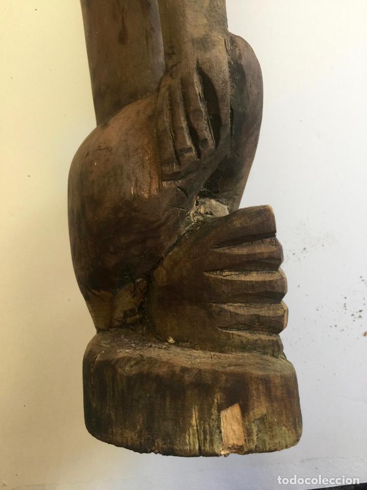 Arte: TALLA AFRICANA EN MADERA . 72 CM. BEMBE - Foto 6 - 145594138