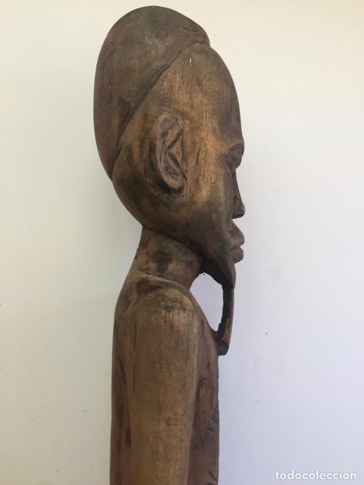 Arte: TALLA AFRICANA EN MADERA . 72 CM. BEMBE - Foto 7 - 145594138