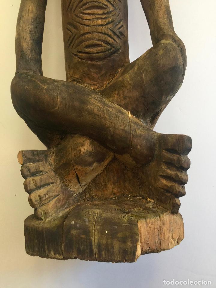 Arte: TALLA AFRICANA EN MADERA . 72 CM. BEMBE - Foto 8 - 145594138