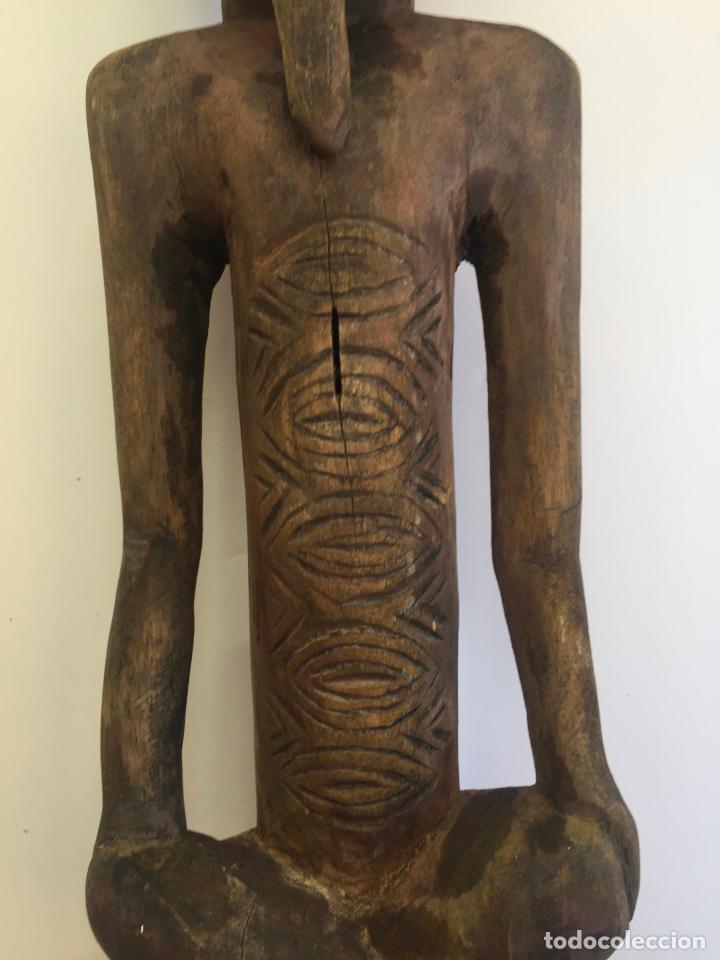 Arte: TALLA AFRICANA EN MADERA . 72 CM. BEMBE - Foto 9 - 145594138