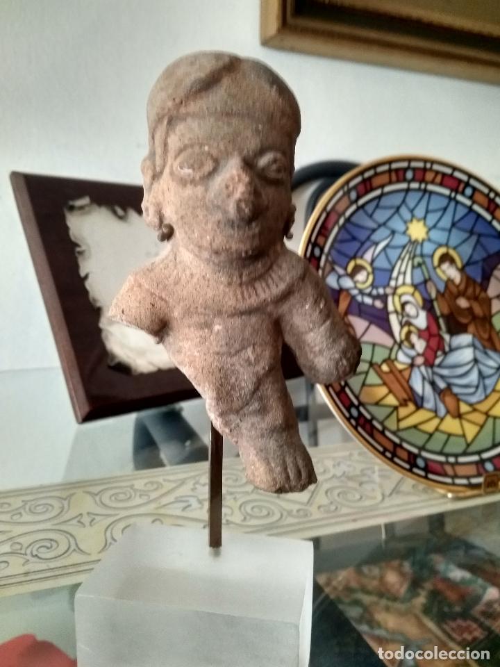 FIGURA PRECOLOMBINA AUTENTICA EN TERRACOTA SIGLO XV (Arte - Étnico - América)