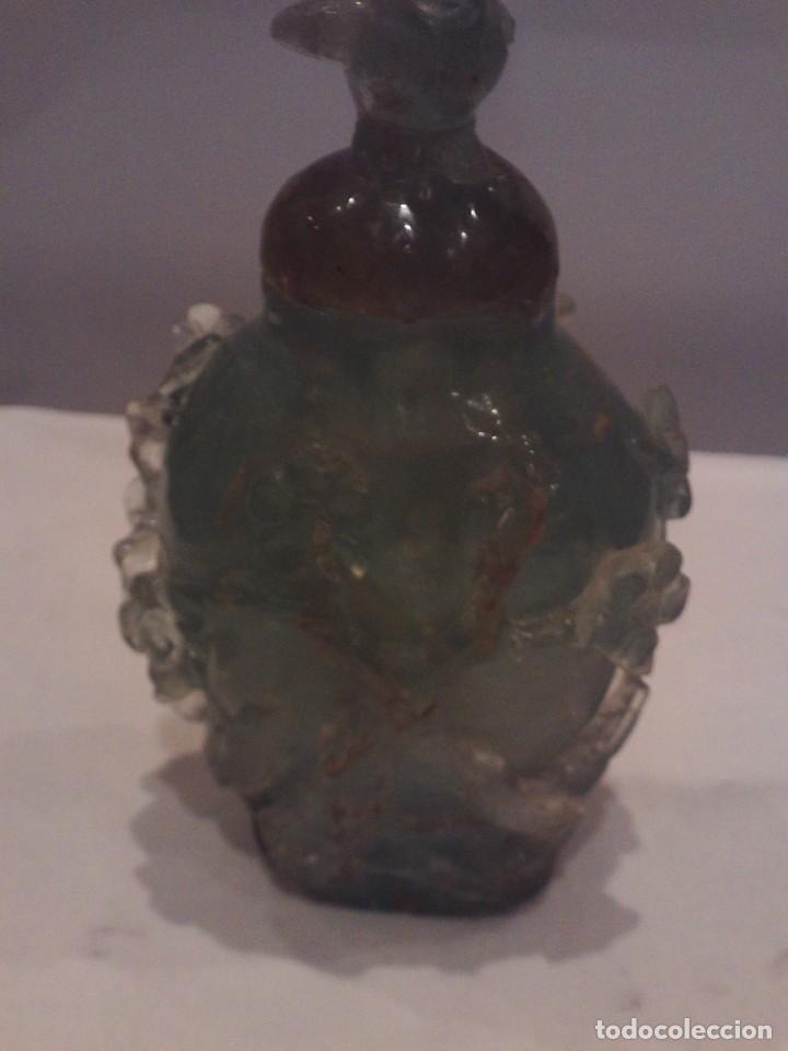 Arte: botella en jade o fluorita perfumero buen tamaño 15cm altura,antiguo trabajo chino - Foto 2 - 146422266