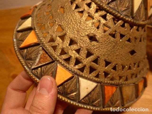Arte: Antigua 2 lampara de arte africana, original. En hierro, de africa. - Foto 2 - 147657514