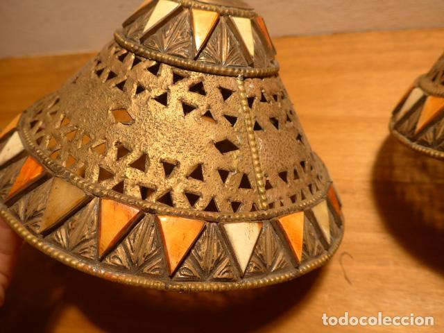 Arte: Antigua 2 lampara de arte africana, original. En hierro, de africa. - Foto 3 - 147657514