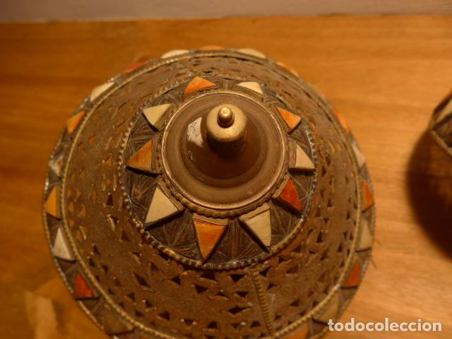 Arte: Antigua 2 lampara de arte africana, original. En hierro, de africa. - Foto 4 - 147657514