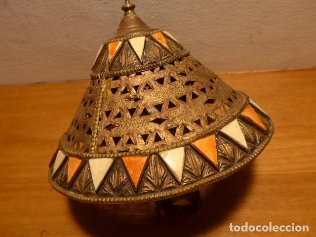 Arte: Antigua 2 lampara de arte africana, original. En hierro, de africa. - Foto 7 - 147657514