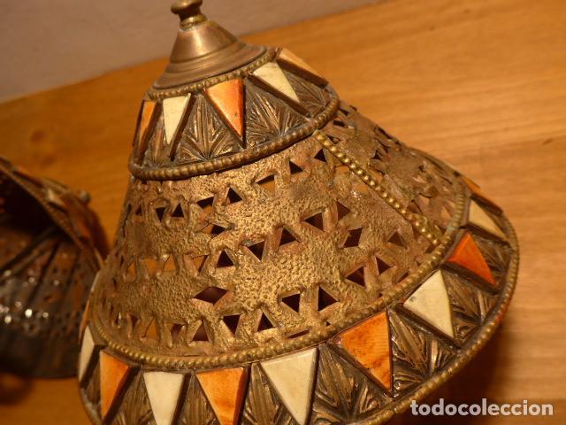 Arte: Antigua 2 lampara de arte africana, original. En hierro, de africa. - Foto 8 - 147657514