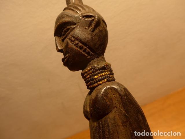 Arte: Antigua escultura de madera tallada africana, original, de tribu de Africa, del Zaire. - Foto 3 - 147658726