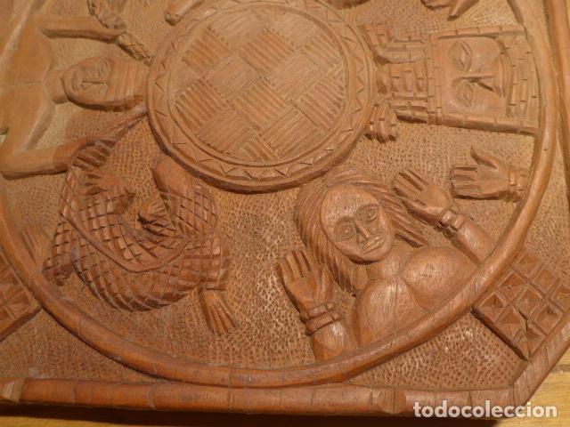 Arte: Antigua escultura de madera tallada africana, de Benin, original, de tribu de Africa. - Foto 3 - 147658866