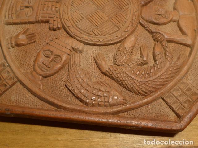 Arte: Antigua escultura de madera tallada africana, de Benin, original, de tribu de Africa. - Foto 5 - 147658866
