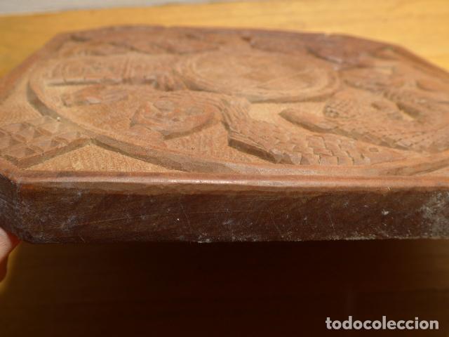 Arte: Antigua escultura de madera tallada africana, de Benin, original, de tribu de Africa. - Foto 6 - 147658866