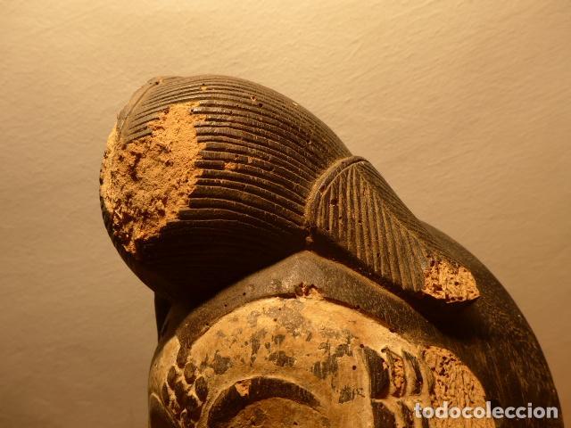Kunst: Antigua mascara africana de madera tallada, original, de tribu Puno de Gabon, Africa. - Foto 5 - 147659002