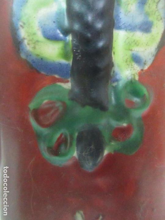 Arte: Pareja de Emperadores Orientales - Figura Porcelana de Biscuit - Pintados a Mano - Sello en la Base - Foto 11 - 149035838