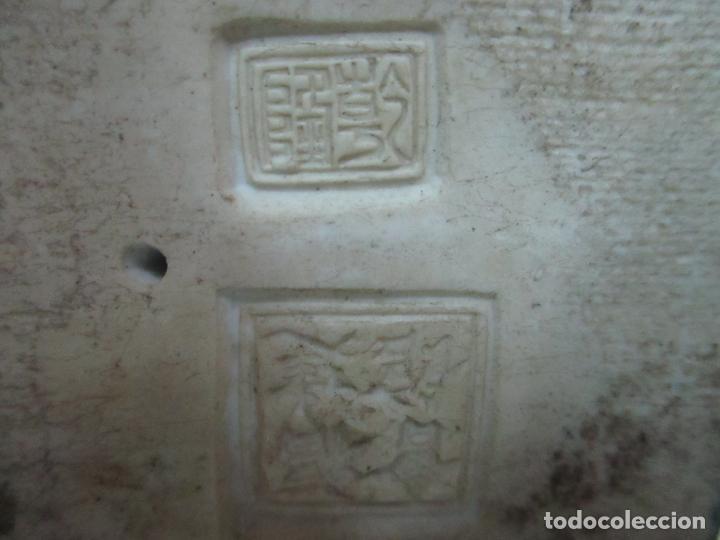 Arte: Pareja de Emperadores Orientales - Figura Porcelana de Biscuit - Pintados a Mano - Sello en la Base - Foto 15 - 149035838