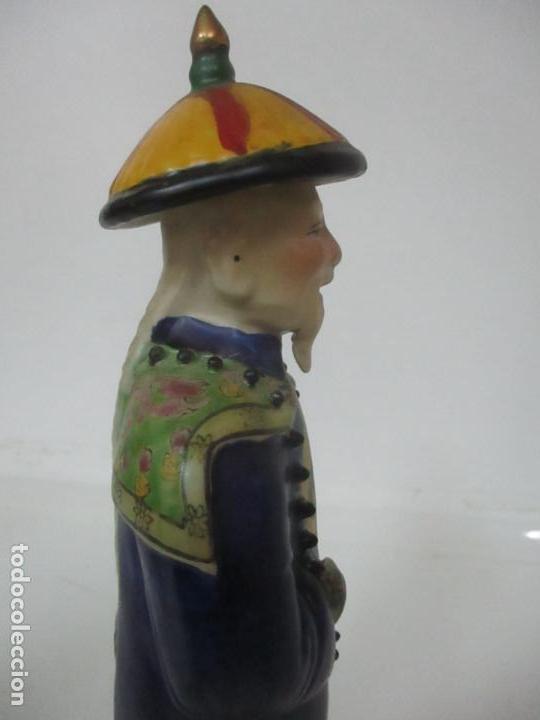 Arte: Pareja de Emperadores Orientales - Figura Porcelana de Biscuit - Pintados a Mano - Sello en la Base - Foto 27 - 149035838
