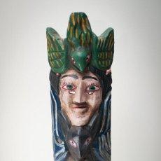 Arte: ANTIQUÍSIMA MÁSCARA GUERRERO MEXICANO TALLA MADERA -- 55 CM. Lote 149540134