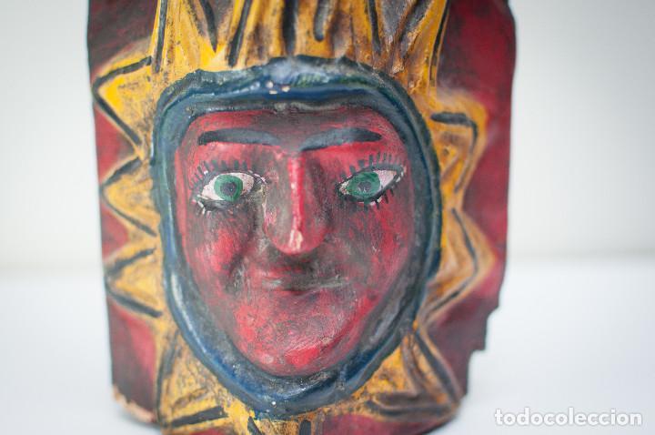 Arte: ANTIGUA MÁSCARA GUERRERO MEXICANO TALLA MADERA - MEDIADOS SIGLO XX - 55 CM - Foto 3 - 149540134
