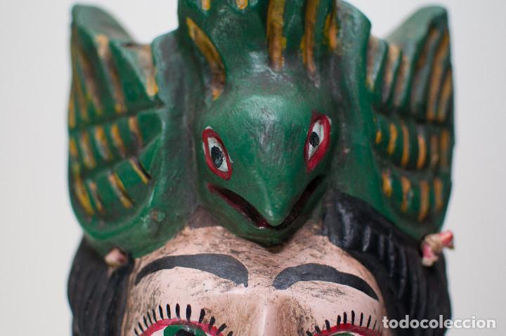 Arte: ANTIGUA MÁSCARA GUERRERO MEXICANO TALLA MADERA - MEDIADOS SIGLO XX - 55 CM - Foto 6 - 149540134