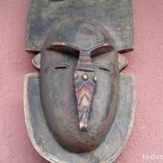 Arte: MASCARA ARTE ETNICO ARTESANIA BUDU TRIBU AFRICA AFRICANA MADERA 1998. Lote 149638518