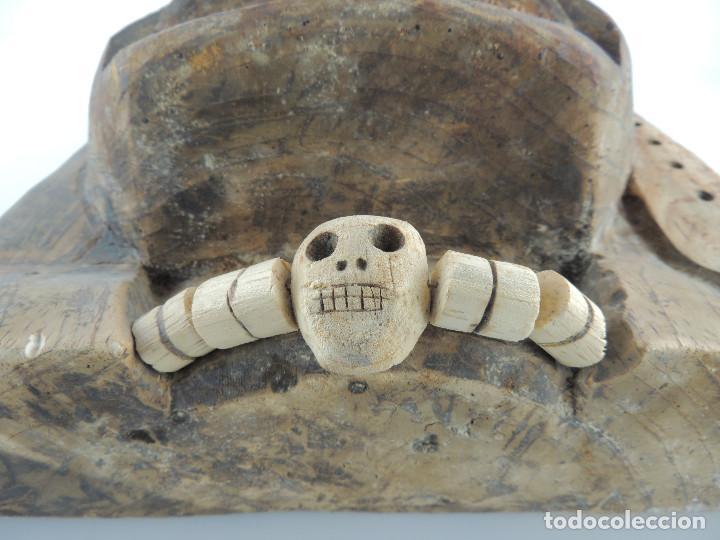 Arte: Excelente Antigua Máscara de América Latín India Madera Ligera preciosa Pieza - Foto 12 - 150278194