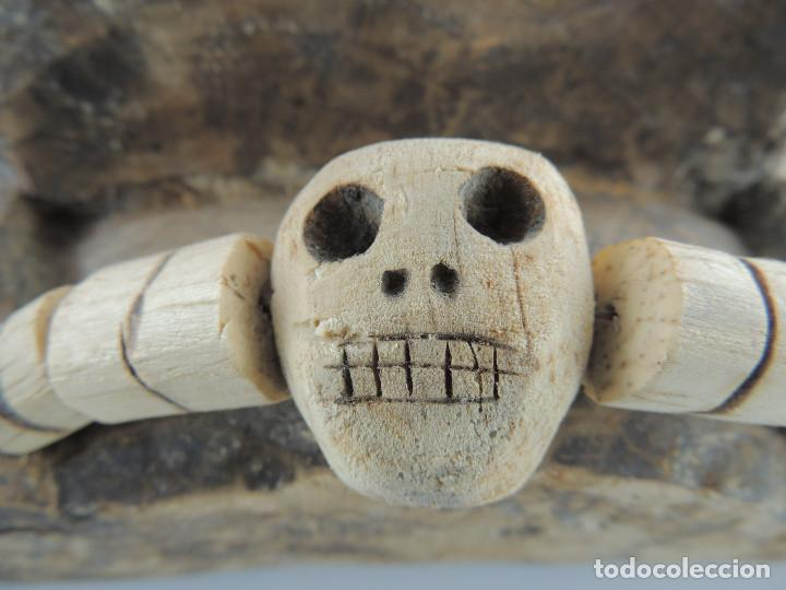 Arte: Excelente Antigua Máscara de América Latín India Madera Ligera preciosa Pieza - Foto 14 - 150278194