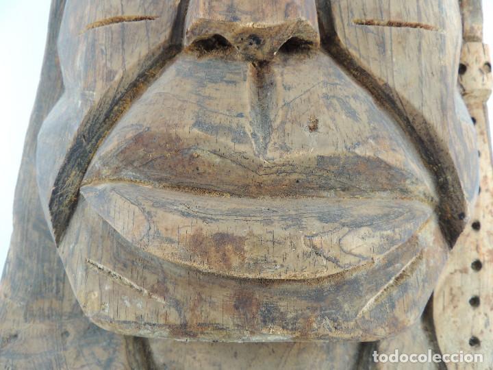 Arte: Excelente Antigua Máscara de América Latín India Madera Ligera preciosa Pieza - Foto 15 - 150278194