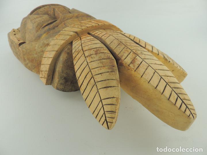Arte: Excelente Antigua Máscara de América Latín India Madera Ligera preciosa Pieza - Foto 24 - 150278194