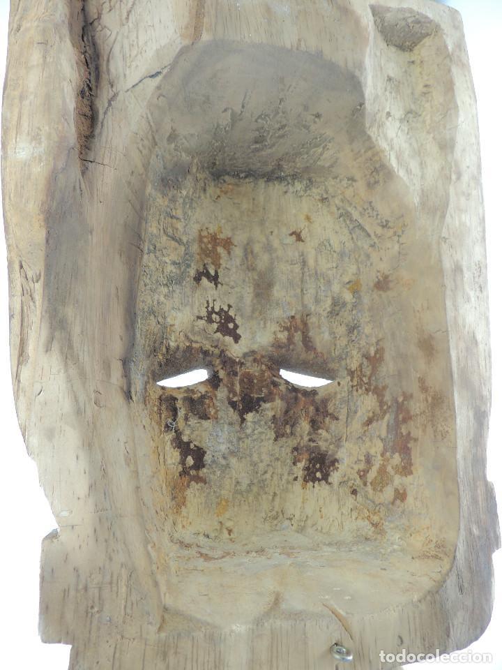 Arte: Excelente Antigua Máscara de América Latín India Madera Ligera preciosa Pieza - Foto 28 - 150278194
