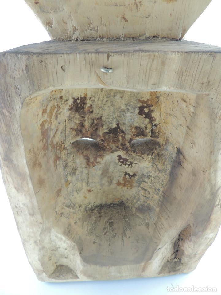 Arte: Excelente Antigua Máscara de América Latín India Madera Ligera preciosa Pieza - Foto 29 - 150278194