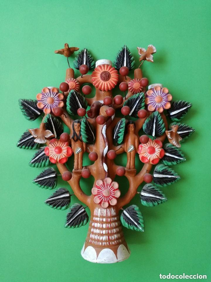 ÁRBOL DE LA VIDA MEJICANO. TERRACOTA (Arte - Étnico - América)