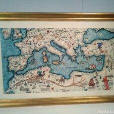 Arte: MAPA CARTOGRÁFICO CATALÁN.FRAGMENTO DEL MAPPAMUNDI DE A.CRESQUES (1375). Lote 151233478