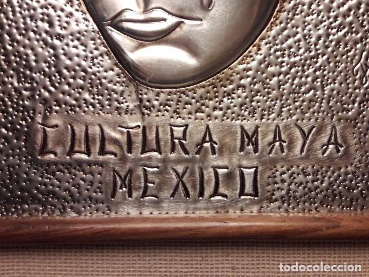 Arte: Precioso cuadro repujado Cultura Maya México Gran Pakal - Foto 9 - 151318666
