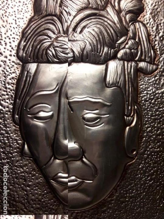 Arte: Precioso cuadro repujado Cultura Maya México Gran Pakal - Foto 10 - 151318666
