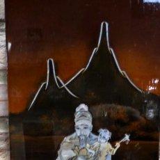 Arte: CUADRO JAPONÉS LACADO CON NACAR, RELIEVES- NIÑOS CON ESCENAS.. Lote 151495122