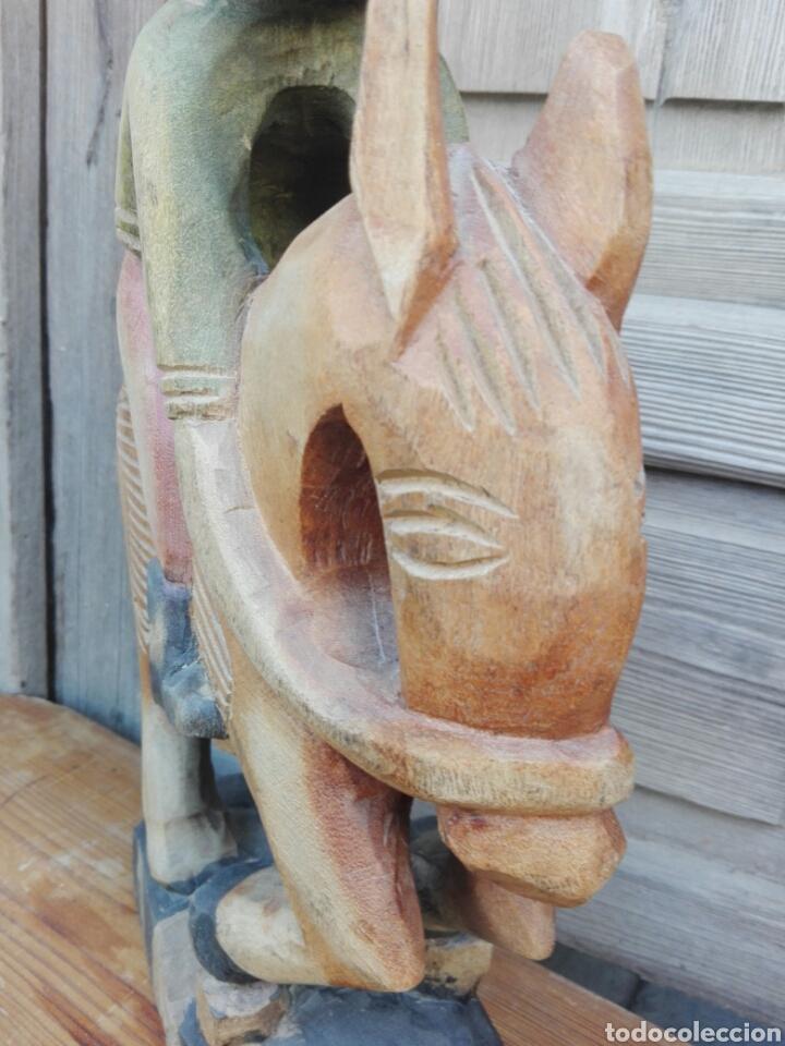 Arte: Enorme talla figura policromada hombre Mexicano caballo Folclore decorar restaurantes 45 cm MEXICO - Foto 8 - 151503394