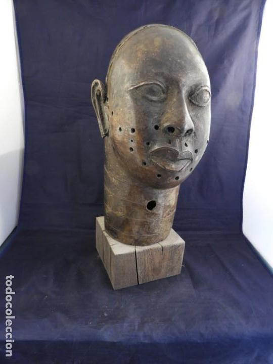 Arte: MAGNIFICA CABEZA IFE EN BRONCE DE BENIM - Foto 10 - 151541778