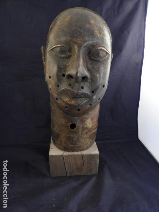 Arte: MAGNIFICA CABEZA IFE EN BRONCE DE BENIM - Foto 2 - 151541778