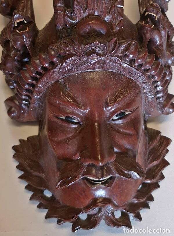 Arte: Máscara oriental de madera - Foto 2 - 151582962