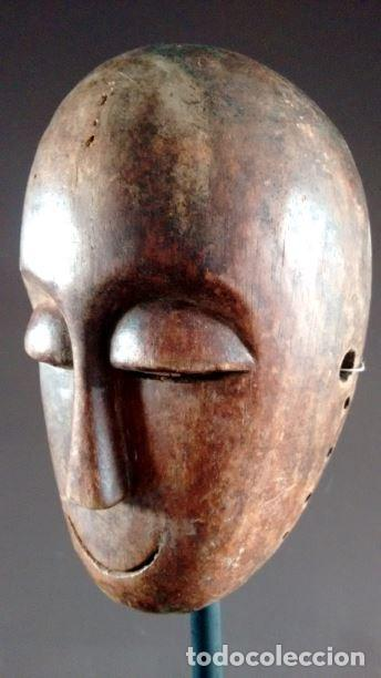 Arte: Máscara africana tribu Lega (Congo) - Foto 2 - 151611966